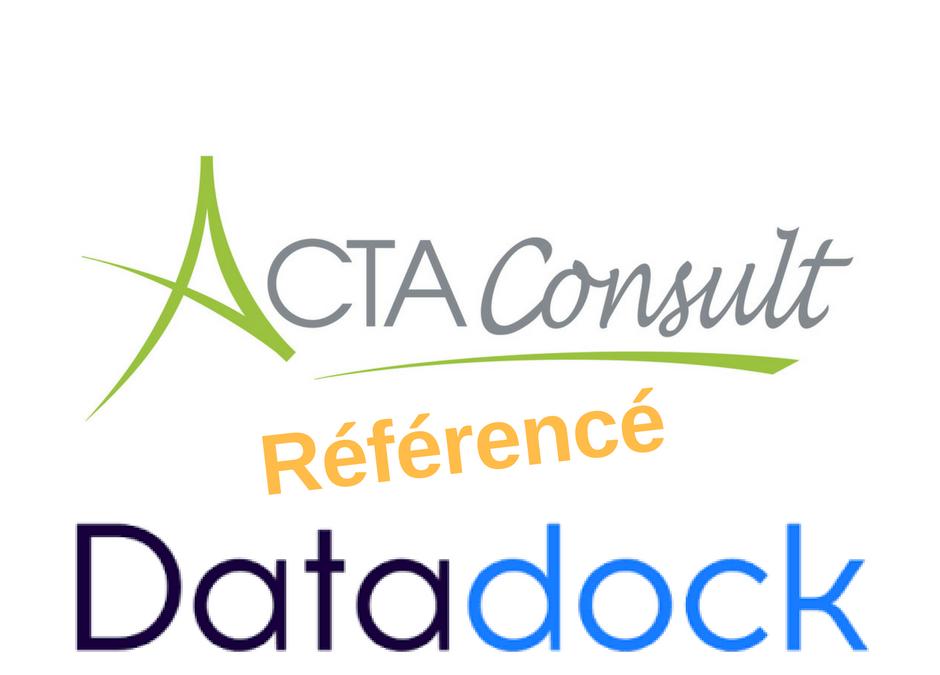 Formation professionnelle : Acta Consult référencé Data Dock